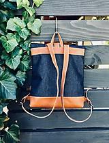 Batohy - Riflový ruksak s koženými detailami - 10249490_