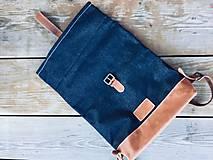 Batohy - Riflový ruksak s koženými detailami - 10249497_