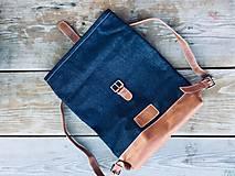 Batohy - Riflový ruksak s koženými detailami - 10249499_