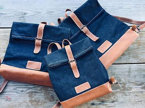 Riflový ruksak s koženými detailami