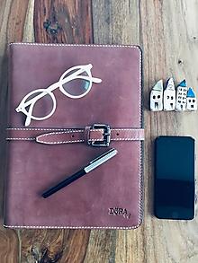 Na notebook - Kožený obal na MacBook Air 13, dokumenty veľkosti A4, vizitky a perá - 10249385_