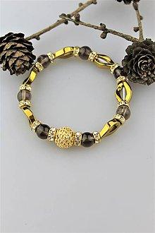 Náramky - hematit záhneda náramok luxusný - 10248353_