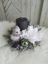 Vianočná dekorácia s vtáčikom