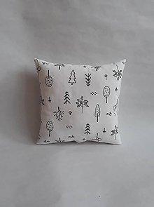 Textil - Vankúšik - mini - líška (Čierno-biela) - 10247555_