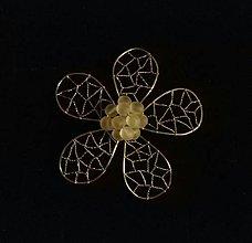 Odznaky/Brošne - Medový kvet - 10248086_