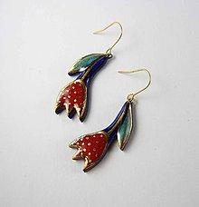 Náušnice - Tana šperky - keramika/zlato - 10248725_
