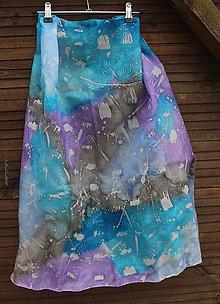 Šatky - silk scarf_hodvábna šatka_colourful - 10247516_