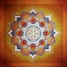 Obrazy - Mandala radosti a šťastného bytia - 10249221_