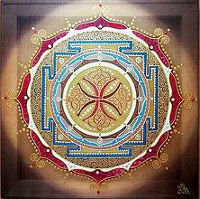 Obrazy - Mandala...Modlitba šťastia a stability - 10249246_