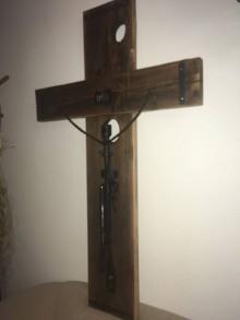 Dekorácie - Drevený kríž - 10248883_