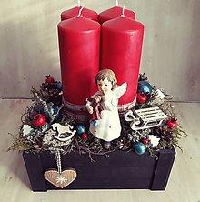 Dekorácie - Vianočná dekorácia s anjelom - 10246904_