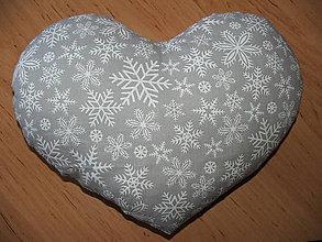 Úžitkový textil - Zimné srdce - 10248226_