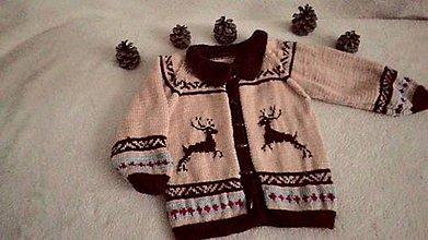 Detské oblečenie - Svetrík s jeleňmi - 10249130_