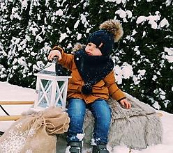 Detské čiapky - Setik v smaragdovej farbe - 10248335_