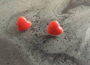 Náušnice - Náušnice Red hearts - 10249210_