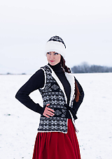 Iné oblečenie - vesta Natalia s  čiapkou - 10248951_