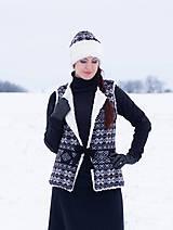Iné oblečenie - vesta Natalia s  čiapkou - 10248955_