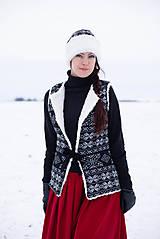 Iné oblečenie - vesta Natalia s  čiapkou - 10248957_