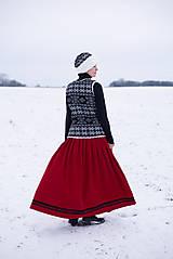 Iné oblečenie - vesta Natalia s  čiapkou - 10248958_