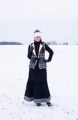 Iné oblečenie - vesta Natalia s  čiapkou - 10248959_