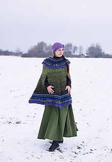 Iné oblečenie - pončo Evergreen - 10248510_
