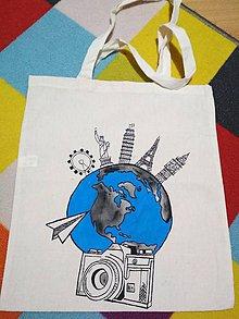 Nákupné tašky - Ručne maľovaná taška - travel - 10248685_