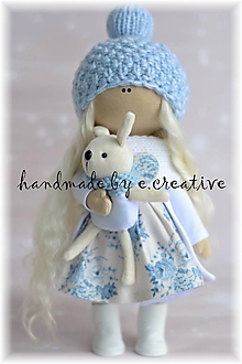 Bábiky - Winter blue - 10247363_
