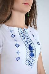 Tričká - Dámske tričko folk kratký a 3/4 rukáv - 10247614_
