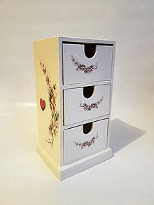 Krabičky - Komoda na drobnosti - šperkovnica ruže - 10247759_