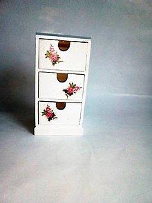 Krabičky - Komoda na drobnosti - šperkovnica - 10247866_