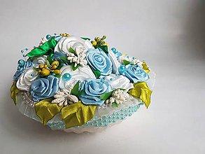 Dekorácie - Dekoratívny kvetinový košík 1 - 10248040_