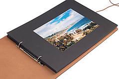 Knihy - Album v kožených doskách 30 x 40cm Koňak - 10249182_