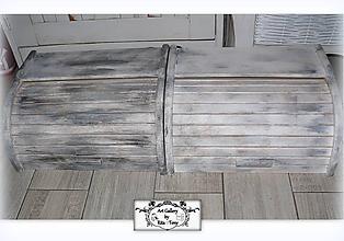 """Nádoby - Chlebník """"Vintage grey a antracit"""" :) - 10248394_"""
