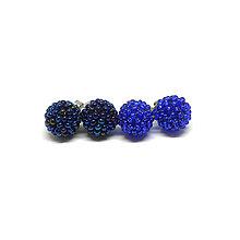Náušnice - #bobuledousi duo královské modré napichovacie náušnice - 10247055_