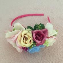 "Ozdoby do vlasov - Čelenka ""roses"" - 10249466_"