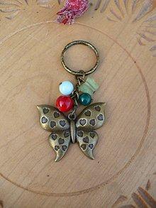 Kľúčenky - kľúčenka, prívesok motýľ - 10247668_
