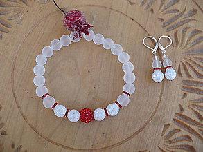 Sady šperkov - súprava náramok a náušnic z Krištáľu matného - 10248761_