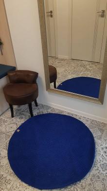 Úžitkový textil - Koberec 100 % bavlna - kráľovska modrá - 10248520_