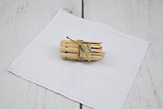 Úžitkový textil - Ľanový obrúsok 30*30cm - 10250778_