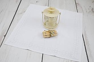 Úžitkový textil - Ľanový obrúsok 56*56cm - 10250795_