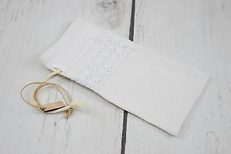 Úžitkový textil - Ľanové vrecko na bylinky - 10250814_