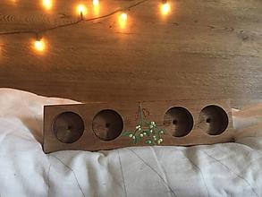 Svietidlá a sviečky - Svietniky (3,5 x 23,5 x 6 cm - Hnedá) - 10250781_