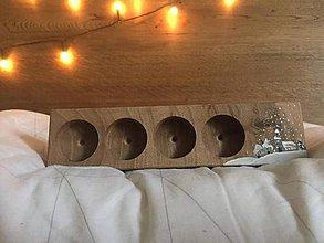 Svietidlá a sviečky - Svietniky (3,5 x 23,5 x 6 cm - Hnedá) - 10250794_