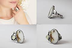 Prstene - Strieborný prsteň s dendritickým achátom a prehnitom - V hmle - 10251891_