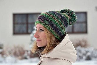 Čiapky - Zľava z 24 na 20 eur-Zelená pletená čiapka - 10252157_