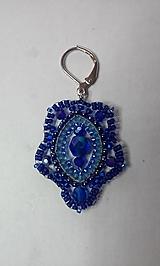 Náušnice - modrá2 - 10251340_