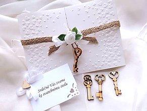 Darčeky pre svadobčanov - Svadobné oznámenie