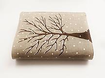 - Obal na knihu - Zasnežený strom - 10250171_