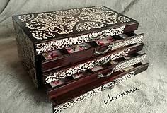 Krabičky - Šperkovnica ORIENT - hnedá - 10250712_