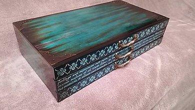 Krabičky - Šperkovnica - TYRKYS čistá - 10249783_